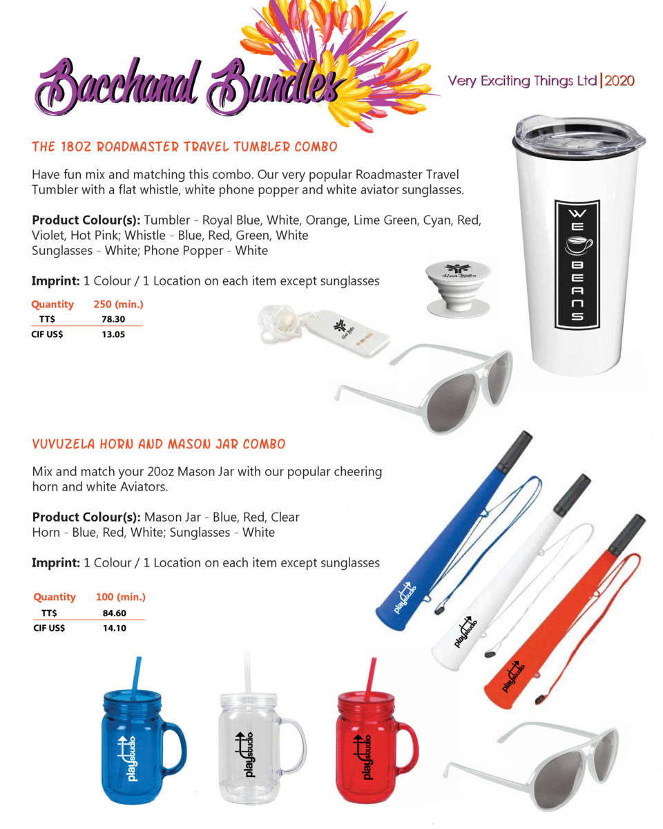 Bacchanal Bundles  Very Exciting Things Ltd 2020  THE 18OZ ROADMASTER tRAVEL TUMBLER combo Have fun mix and matching this ...