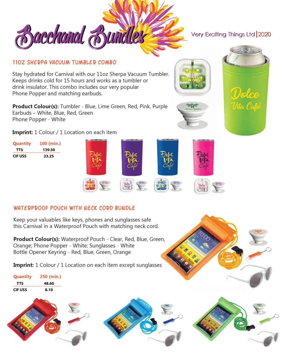 Bacchanal Bundles  Very Exciting Things Ltd 2020  11oz Sherpa Vacuum Tumbler combo  Dolce Vita Cafe   Stay hydrated for Ca...