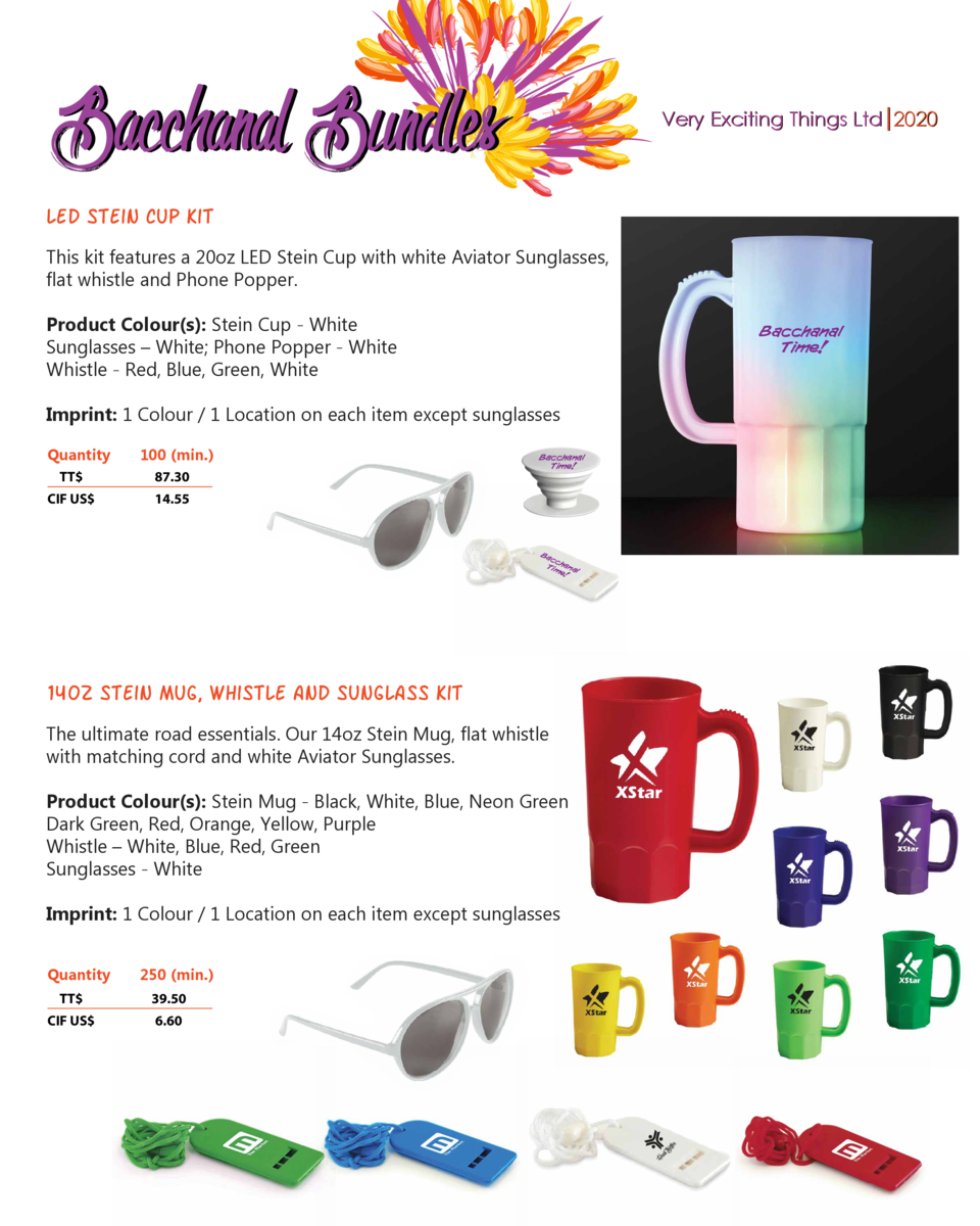 Bacchanal Bundles  Very Exciting Things Ltd 2020  led stein cup kit This kit features a 20oz LED Stein Cup with white Avia...