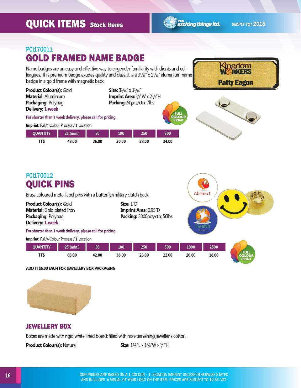 quick items  quick items  Stock Items  PCI170011  PCI170013  Name badges are an easy and effective way to engender familia...