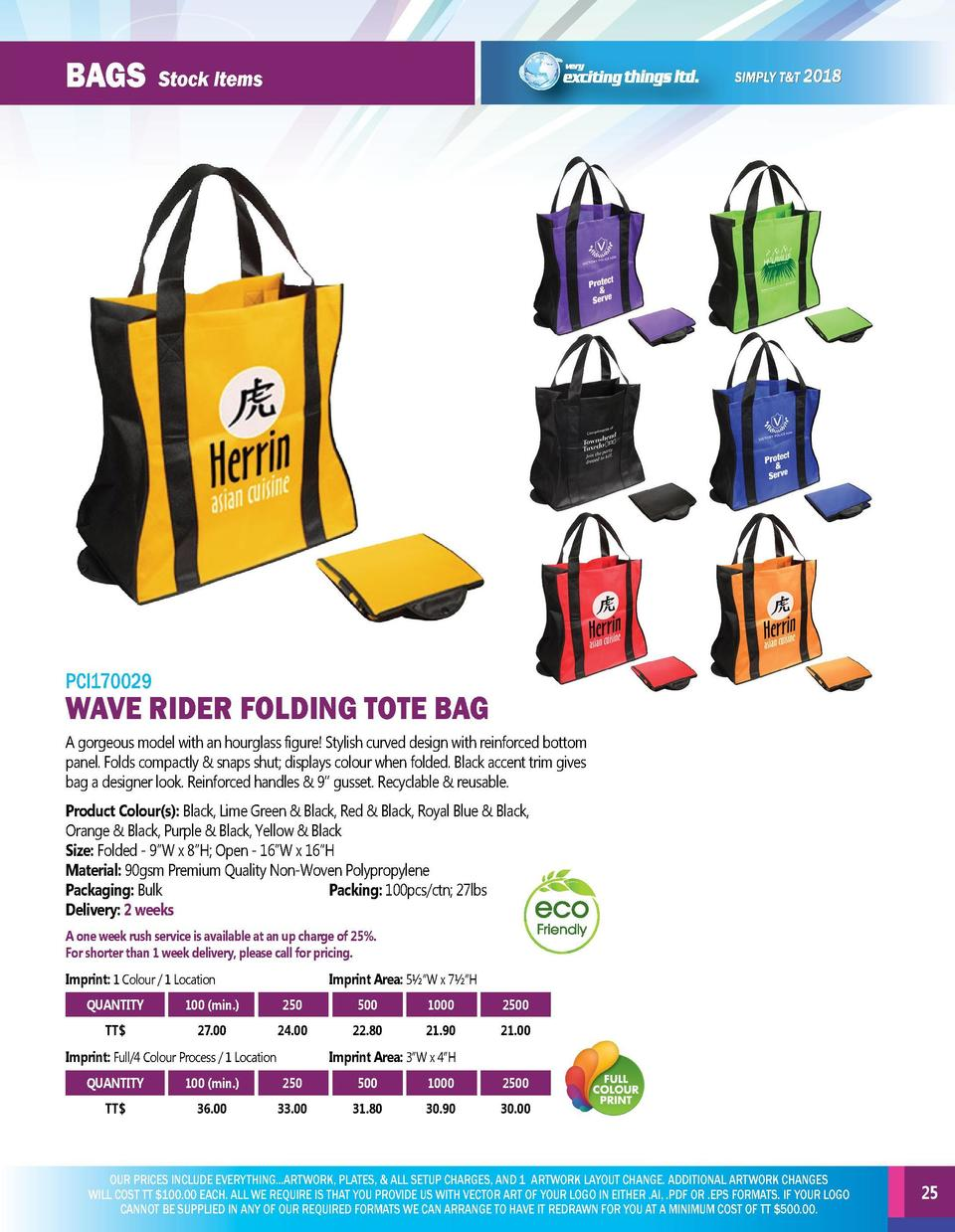 BAGs  BAGs  Stock Items  Stock Items  PCI170027  ECHO TOTE BAG Non-woven tote bag with die cut handle   heat seal seam. Pr...