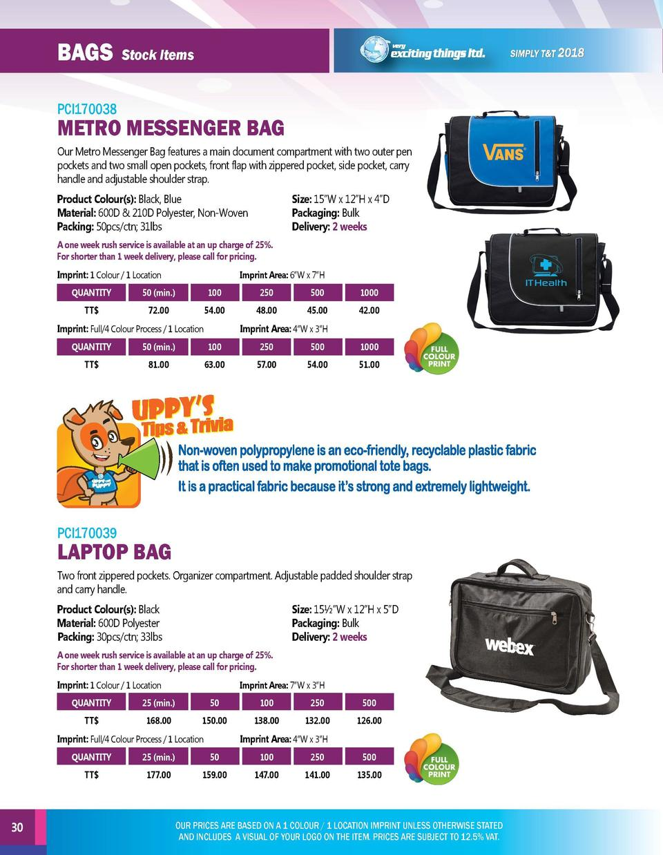 BAGS  BAGS  Stock Items  Stock Items  PCI170038  PCI170040  Our Metro Messenger Bag features a main document compartment w...