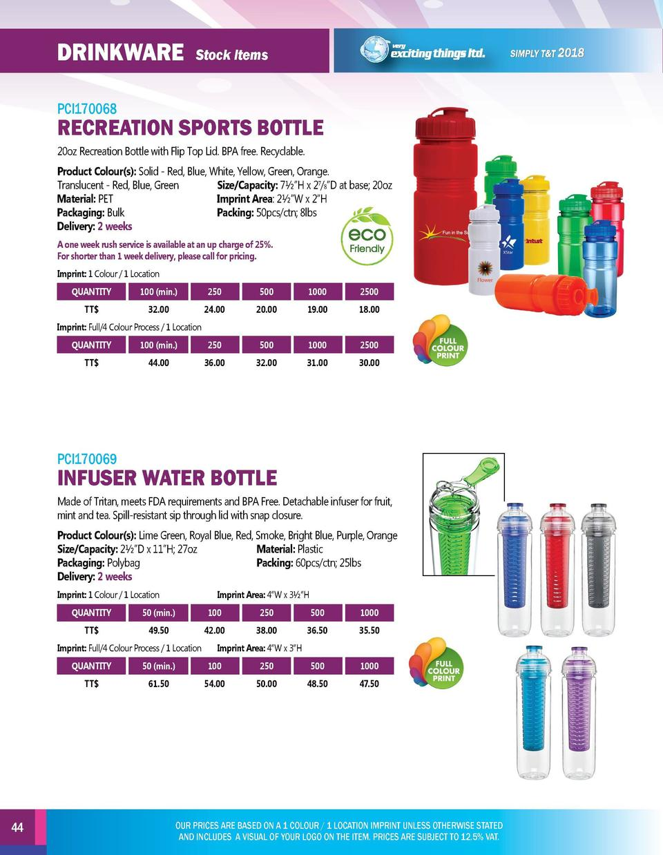 DRINKWARE  DRINKWARE  Stock Items  PCI170068  PCI170070  20oz Recreation Bottle with Flip Top Lid. BPA free. Recyclable.  ...