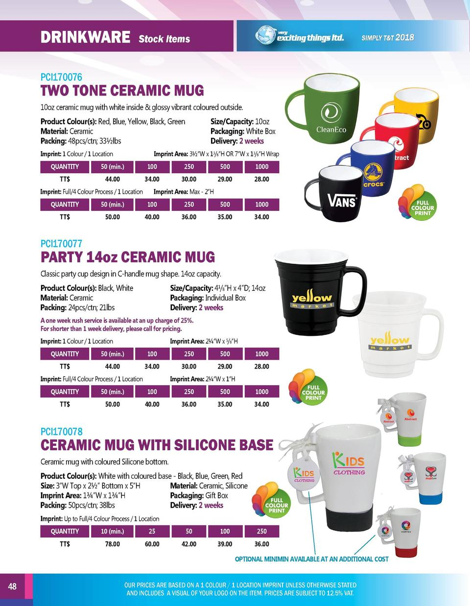 DRINKWARE  DRINKWARE  Stock Items  Stock Items  PCI170076  PCI170079  10oz ceramic mug with white inside   glossy vibrant ...