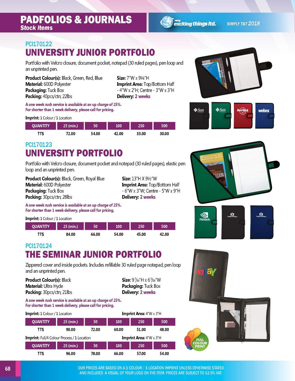 padfolios   journals  padfolios   journals  Stock Items  Stock Items PCI170125  PCI170122  UNIVERSITY JUNIOR PORTFOLIO Por...