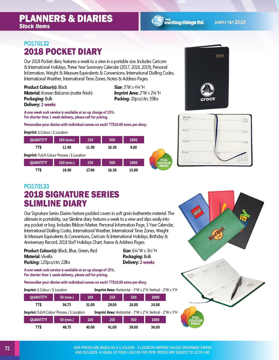 planners   diaries  planners   diaries  Stock Items  Stock Items  PCI170132  PCI170134  2018 POCKET DIARY Our 2018 Pocket ...