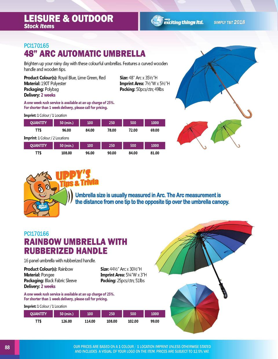 leisure   outdoor  leisure   outdoor  PCI170165  PCI170167  Brighten up your rainy day with these colourful umbrellas. Fea...