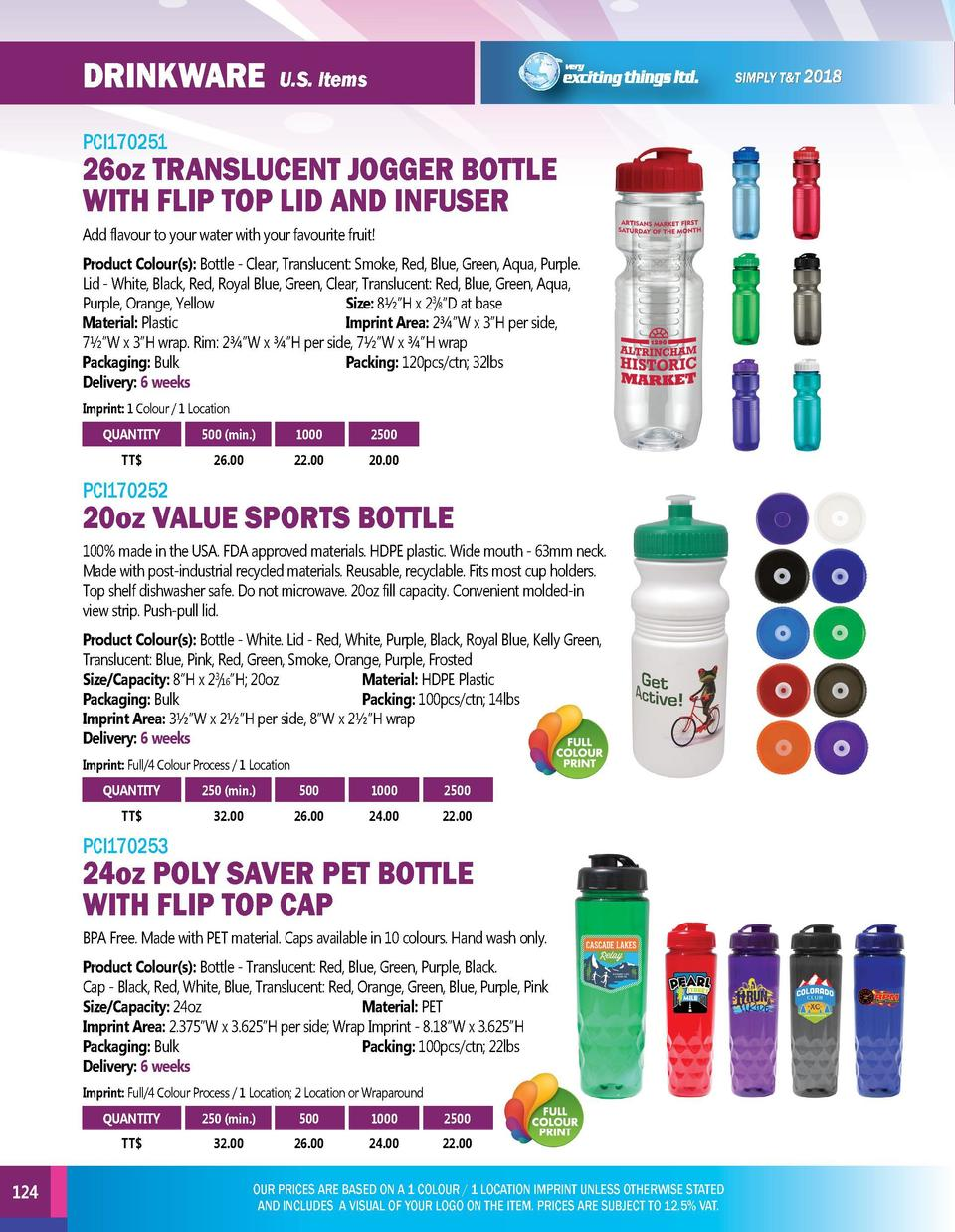 DRINKWARE  DRINKWARE  U.S. Items  PCI170251  26oz TRANSLUCENT JOGGER BOTTLE WITH FLIP TOP LID AND INFUSER Add flavour to y...