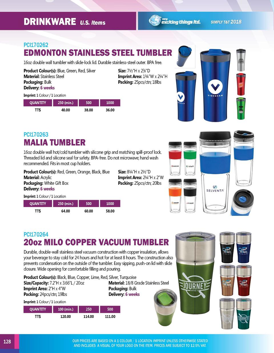 DRINKWARE  DRINKWARE  U.S. Items  PCI170262  EDMONTON STAINLESS STEEL TUMBLER 16oz double wall tumbler with slide-lock lid...