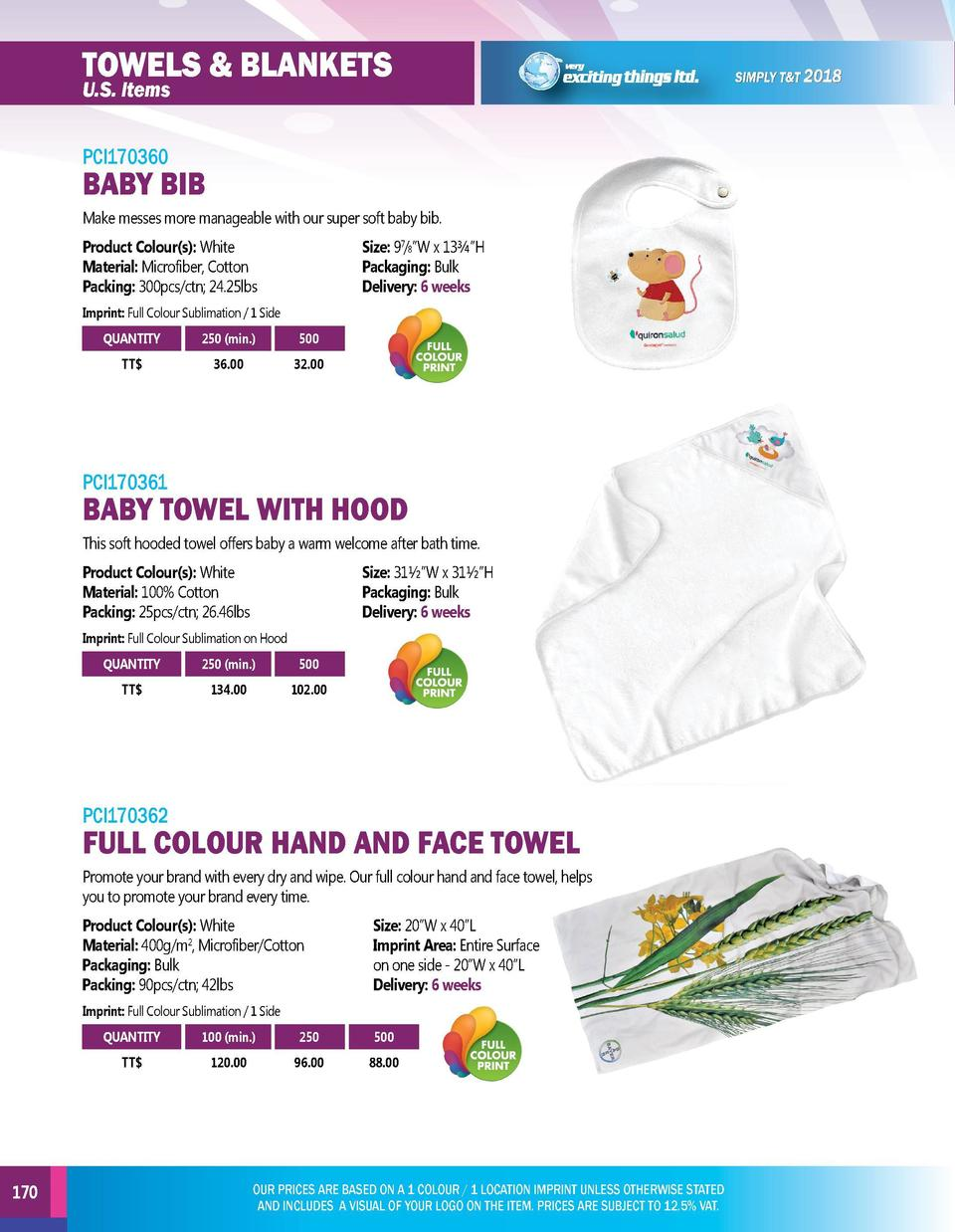TOWELS   BLANKETS  TOWELS   BLANKETS  PCI170360  PCI170363  U.S. Items  BABY BIB Make messes more manageable with our supe...