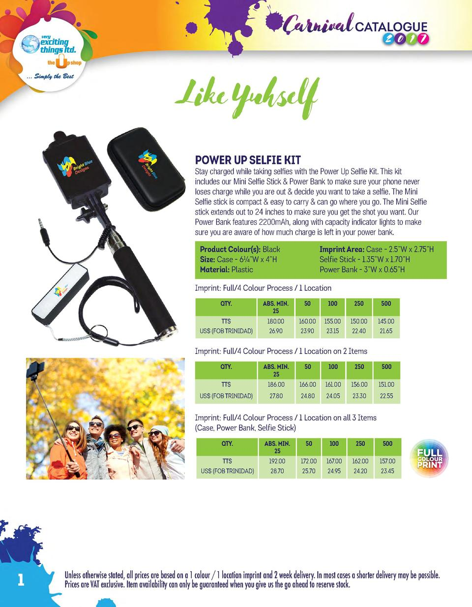 Like Yuhself POWER UP SELFIE KIT  Stay charged while taking selfies with the Power Up Selfie Kit. This kit includes our Mi...