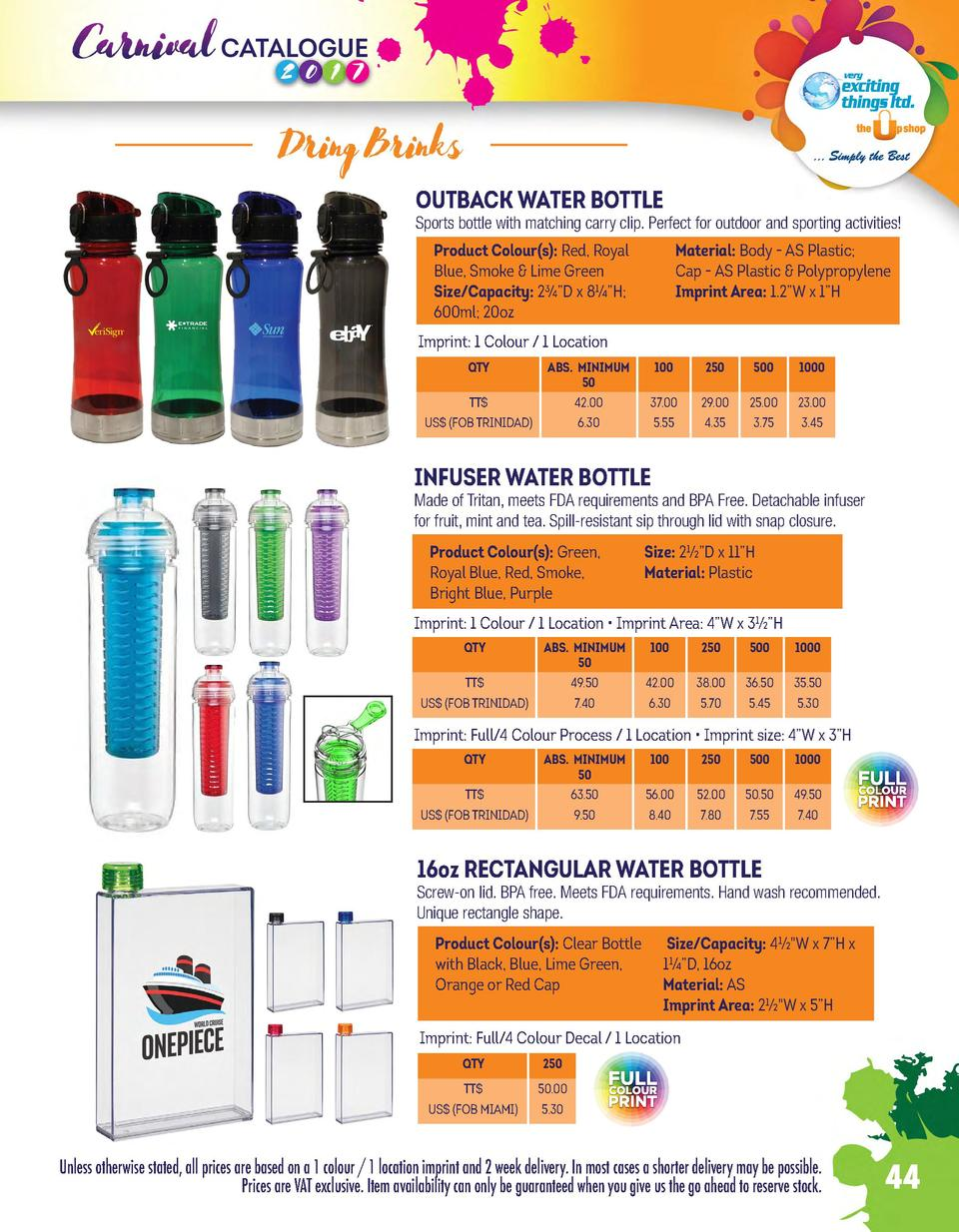 Dring Brinks OUTBACK WATER BOTTLE  Sports bottle with matching carry clip. Perfect for outdoor and sporting activities  Pr...