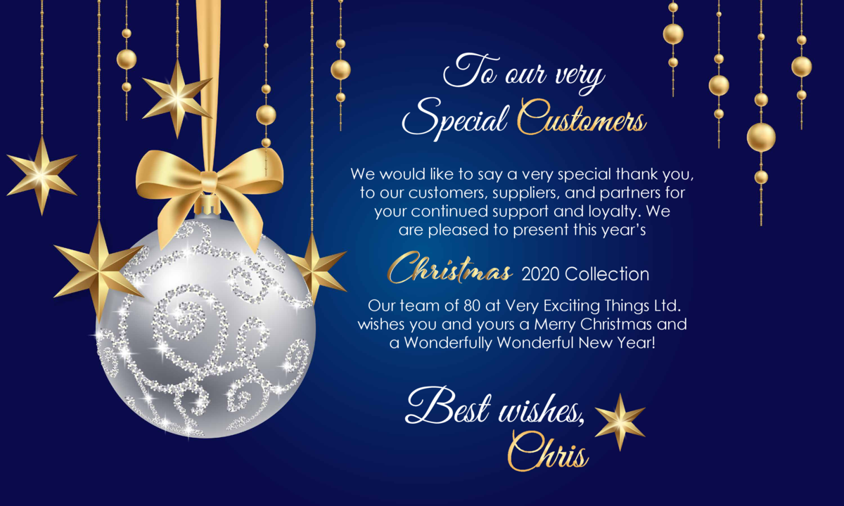 We would like to say a very special thank you, to our customers, suppliers, and partners for your continued support and lo...