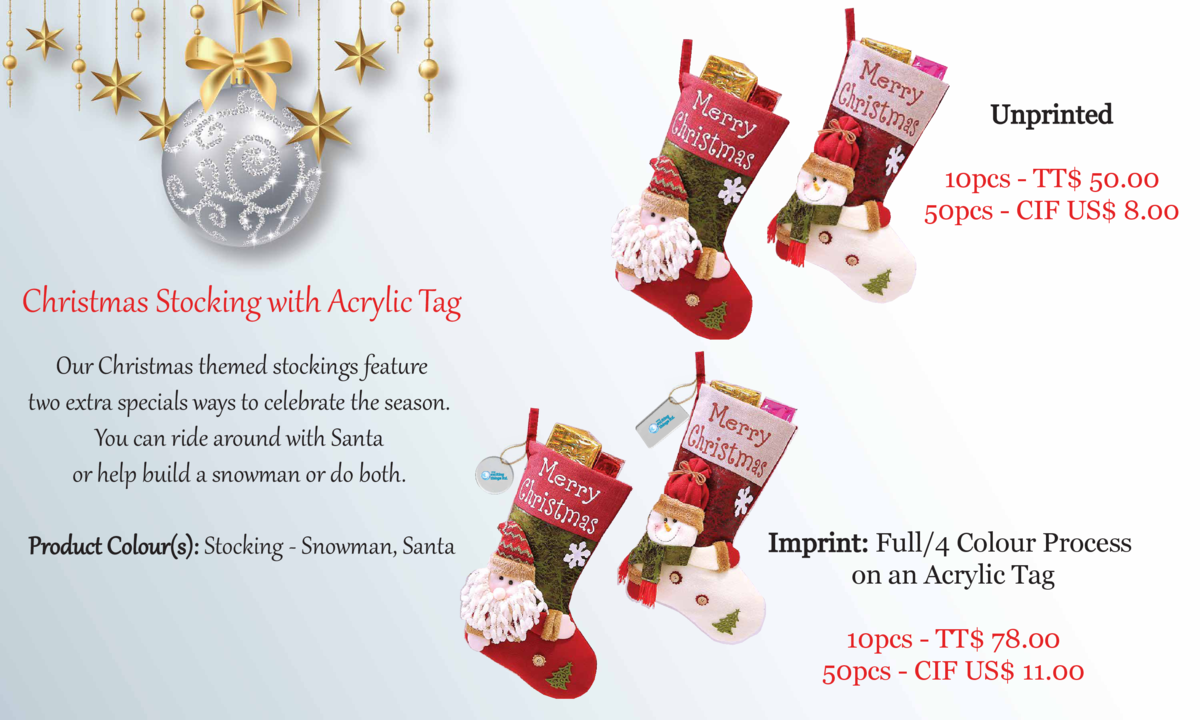 Unprinted 10pcs - TT  50.00 50pcs - CIF US  8.00  Christ   as Stocking with Acr   lic Tag Our Christ   as themed stockings...