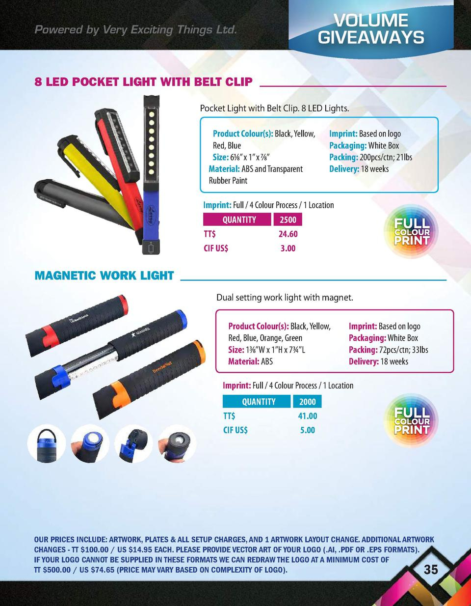 Powered by Very Exciting Things Ltd.  VOLUME GIVEAWAYS  8 LED POCKET LIGHT WITH BELT CLIP Pocket Light with Belt Clip. 8 L...