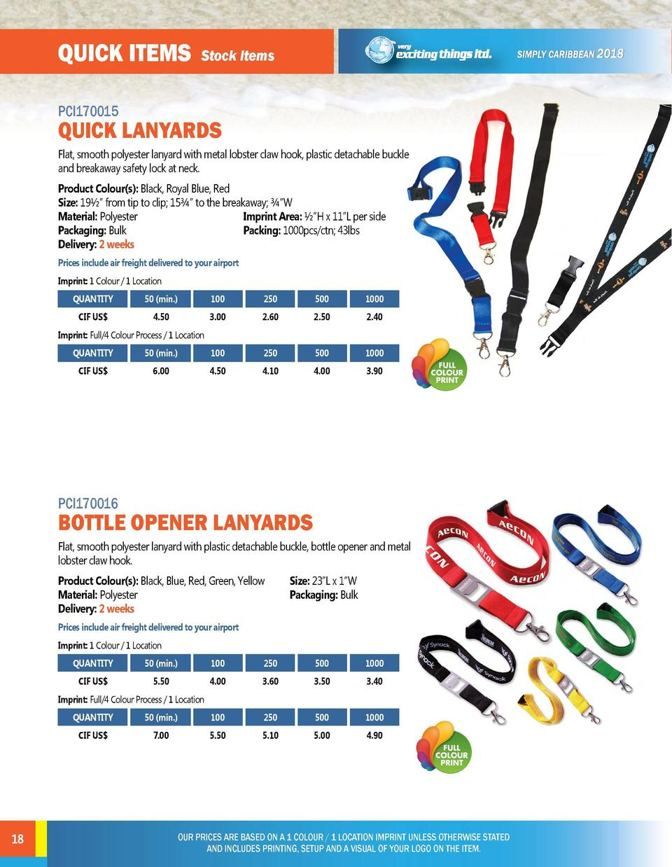 quick items  quick items  Stock Items  PCI170015  PCI170017  Flat, smooth polyester lanyard with metal lobster claw hook, ...