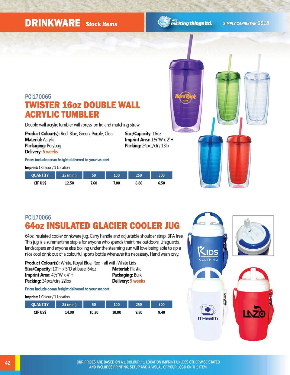 DRINKWARE  DRINKWARE  Stock Items  Stock Items  PCI170065  TWISTER 16oz DOUBLE WALL ACRYLIC TUMBLER Double wall acrylic tu...