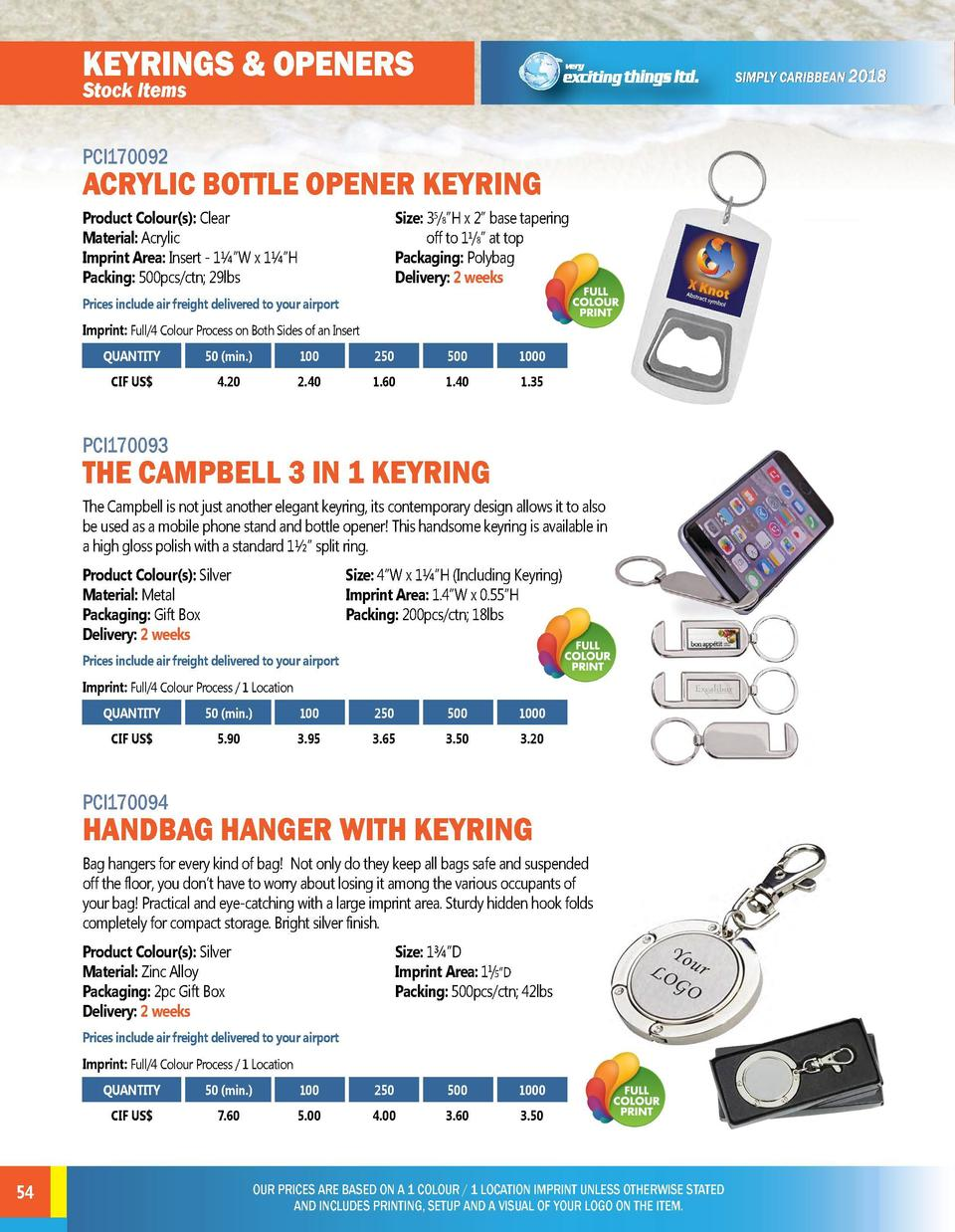 KEYRINGS   OPENERS Stock Items  TOOLS   LIGHTS  PCI170092  PCI170095  ACRYLIC BOTTLE OPENER KEYRING  Stock Items  TOVO POC...