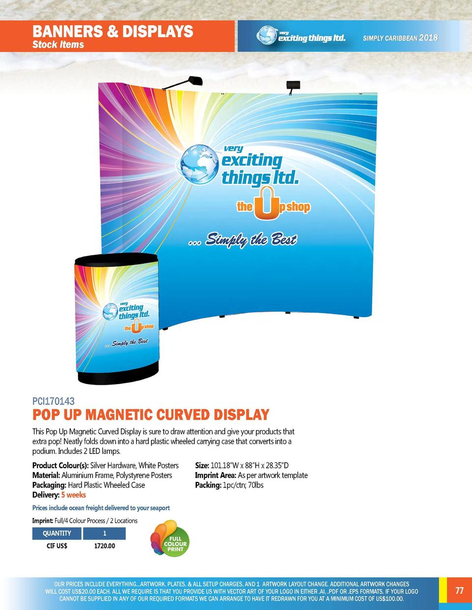 BANNERS   DISPLAYS Stock Items  BANNERS   DISPLAYS Stock Items  PCI170141  FULL COLOUR VINYL GLOSS BANNER WITH GROMMETS In...