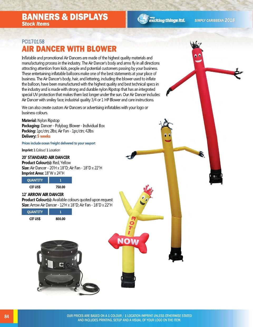 BANNERS   DISPLAYS Stock Items  leisure   outdoor Stock Items  PCI170158  AIR DANCER WITH BLOWER Inflatable and promotiona...