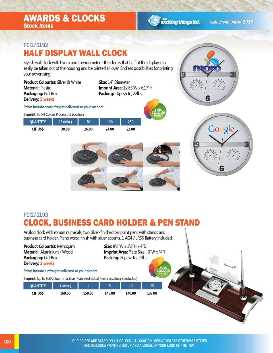 AWARDS   CLOCKS  AWARDS   CLOCKS  PCI170192  PCI170194  Stylish wall clock with hygro and thermometer - the clou is that h...