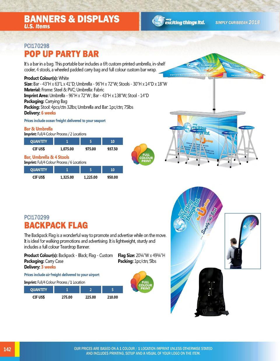 BANNERS   DISPLAYS U.S. Items  BANNERS   DISPLAYS U.S. Items PCI170300  CUSTOM PARTY BEER PONG TABLE  PCI170298  POP UP PA...