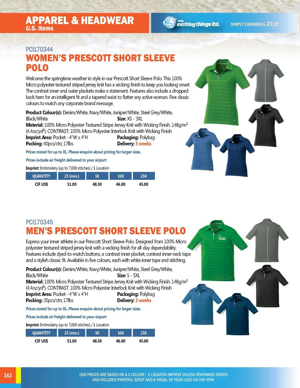 APPAREL   HEADWEAR  APPAREL   HEADWEAR  U.S. Items  U.S. Items PCI170346  PCI170344  WOMEN   S PRESCOTT SHORT SLEEVE POLO ...