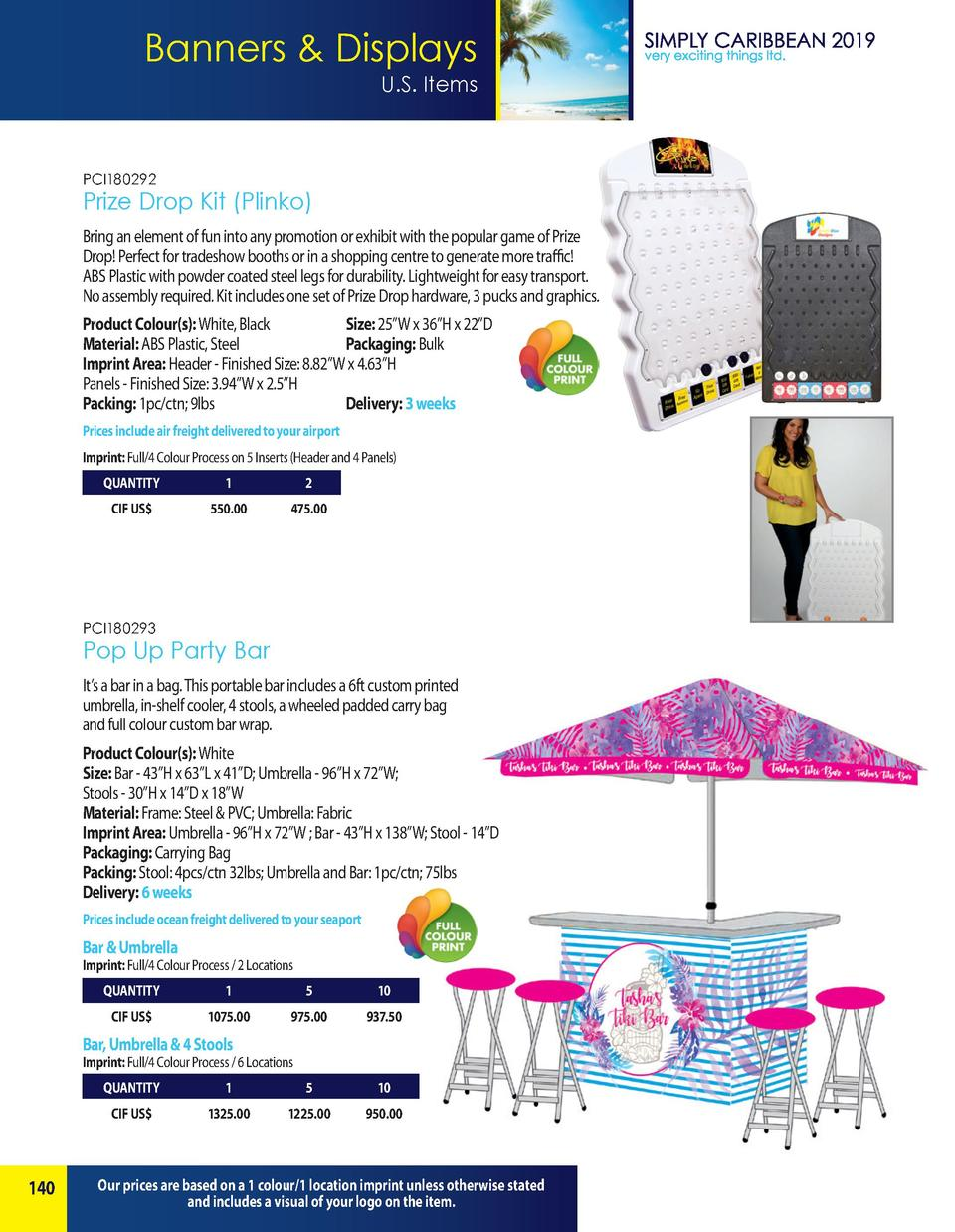 Banners   Displays U.S. Items  PCI180292  Prize Drop Kit  Plinko  Bring an element of fun into any promotion or exhibit wi...