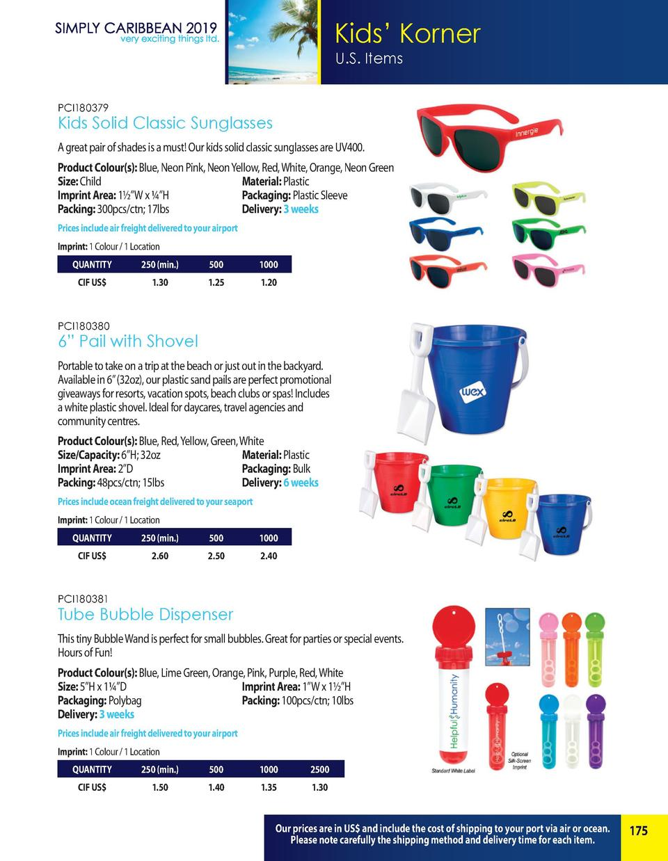 Kids    Korner U.S. Items PCI180379  Kids Solid Classic Sunglasses A great pair of shades is a must  Our kids solid classi...