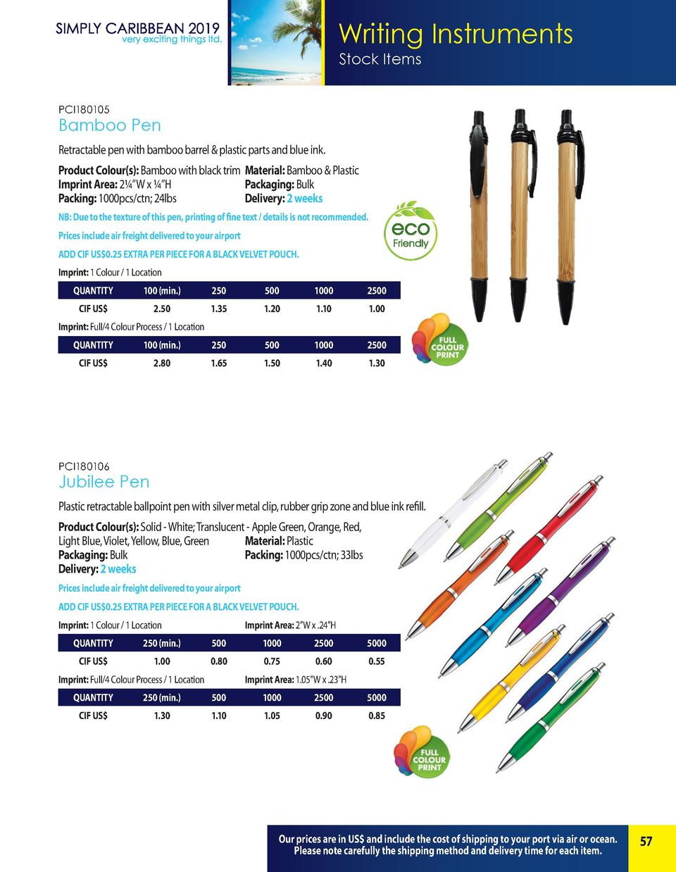 Writing Instruments Stock Items PCI180105  Bamboo Pen Retractable pen with bamboo barrel   plastic parts and blue ink. Pro...