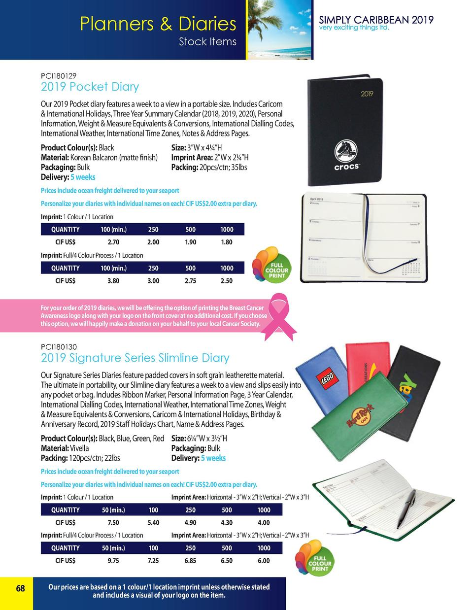 Planners   Diaries Stock Items PCI180129  2019 Pocket Diary Our 2019 Pocket diary features a week to a view in a portable ...
