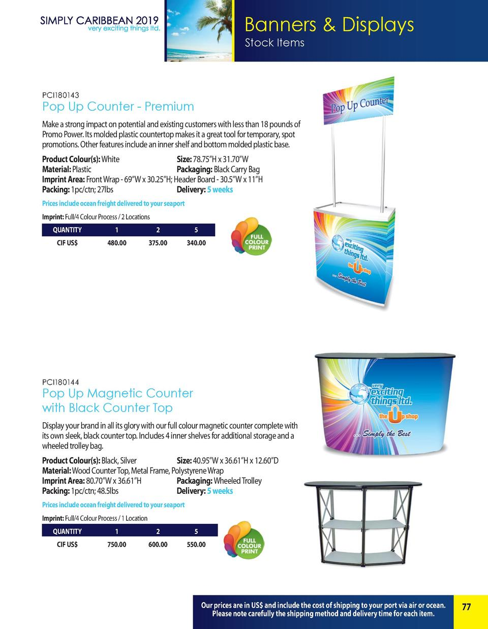 Banners   Displays Stock Items  PCI180143  Pop Up Counter - Premium Make a strong impact on potential and existing custome...