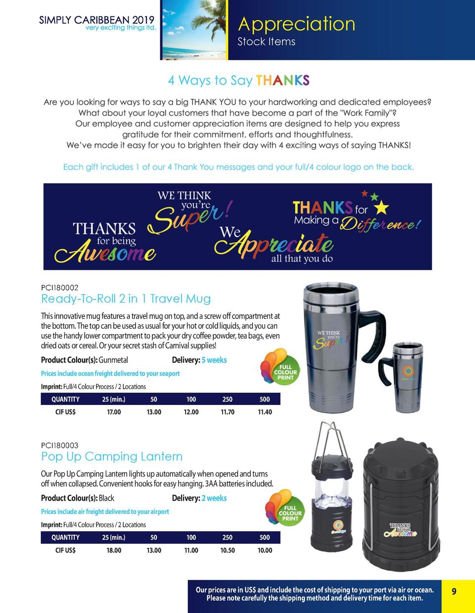 Appreciation Stock Items  PCI180002  Ready-To-Roll 2 in 1 Travel Mug This innovative mug features a travel mug on top, and...