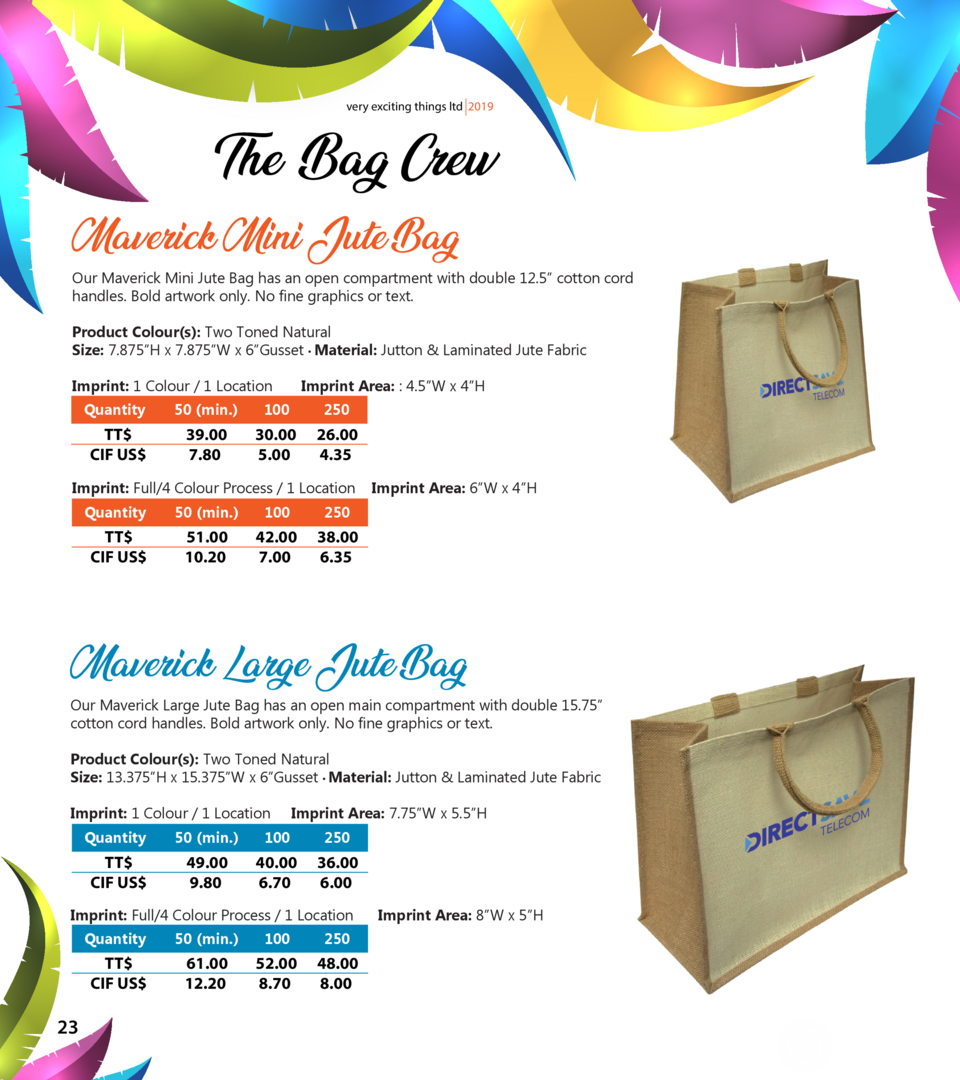 very exciting things ltd 2019  The Bag Crew Maverick Mini Jute Bag  Our Maverick Mini Jute Bag has an open compartment wit...