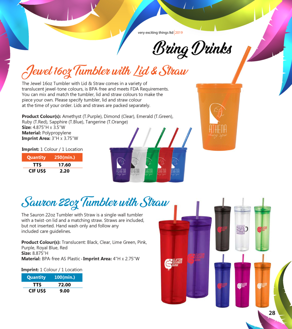 very exciting things ltd 2019  Bring Drinks  Jewel 16oz Tumbler with Lid   Straw The Jewel 16oz Tumbler with Lid   Straw c...