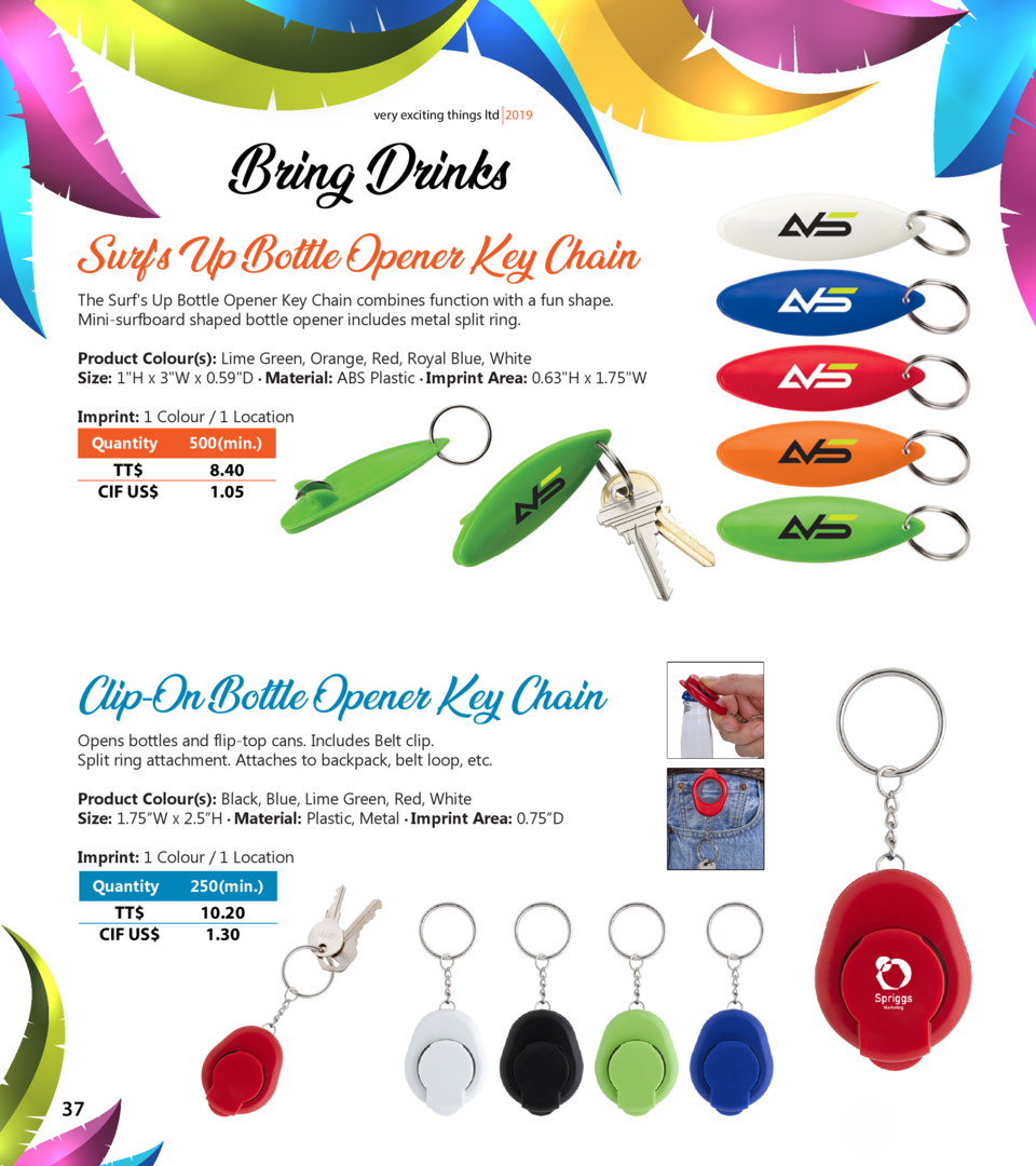very exciting things ltd 2019  Bring Drinks Surf s Up Bottle Opener Key Chain The Surf s Up Bottle Opener Key Chain combin...