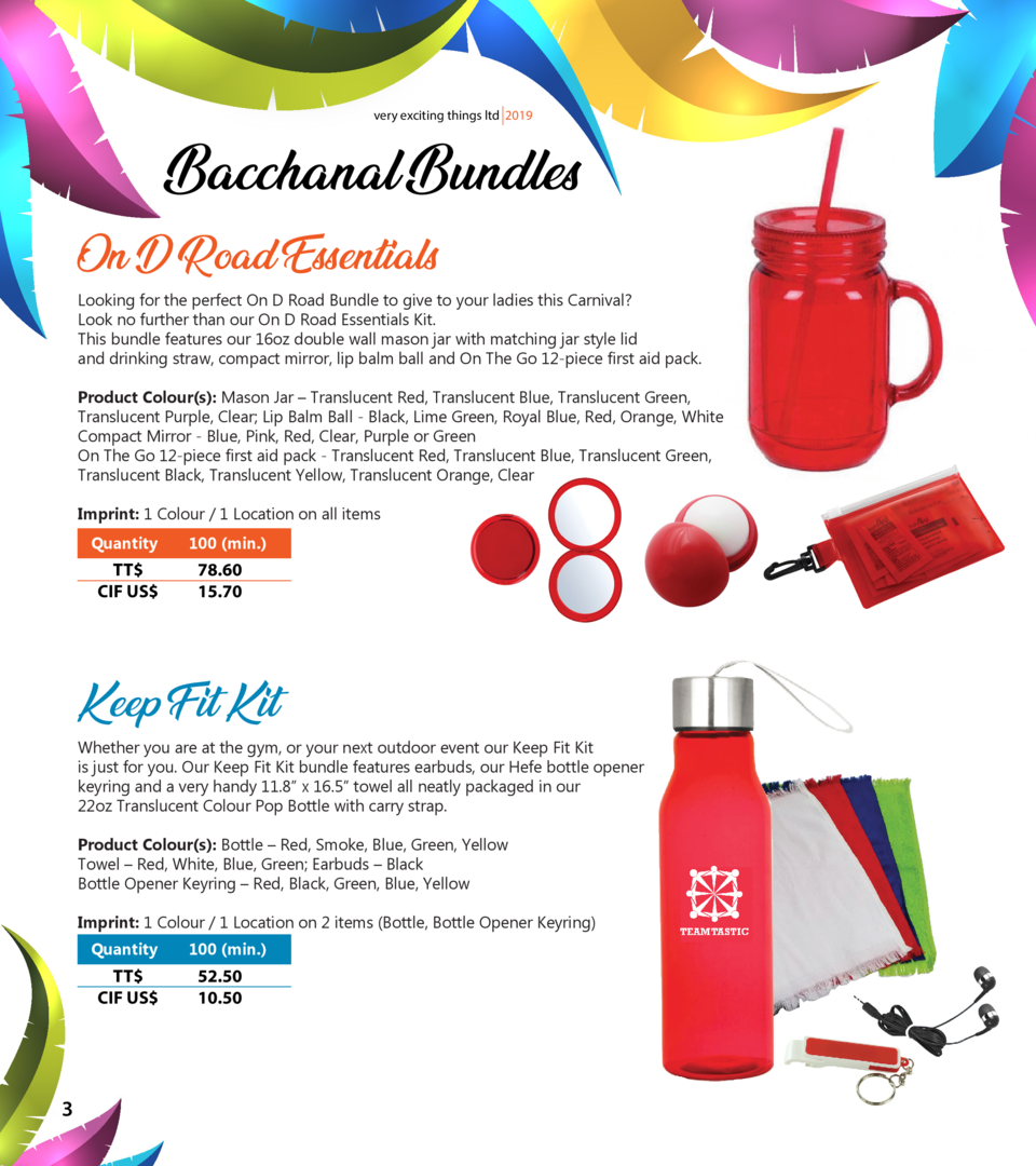 very exciting things ltd 2019  Bacchanal Bundles On D Road Essentials  Looking for the perfect On D Road Bundle to give to...